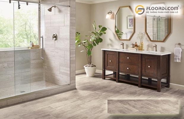 sàn cho nhà tắm cần đảm bảo khả năng chống nước