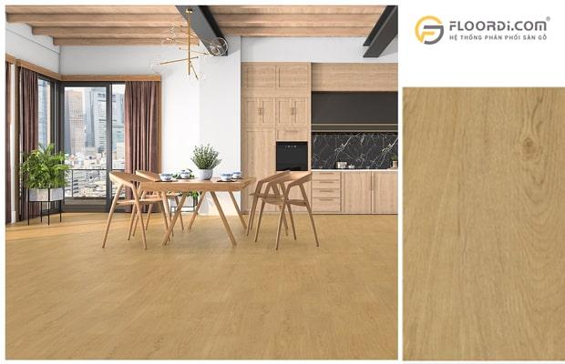 Ốp sàn gỗ cho nhà bếp