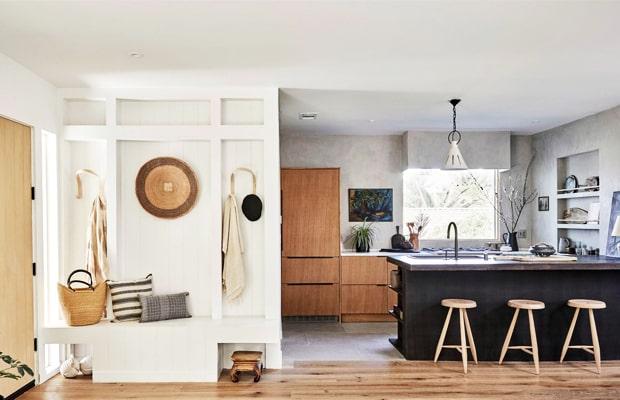 Japandi style kết hợp cùng sàn gỗ