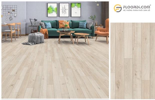 Sàn gỗ nhập khẩu thường cho khả năng chống bám bẩn tốt
