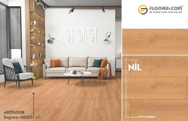 Phối màu sàn gỗ với nội thất và màu tường