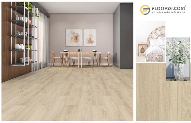 Lót sàn gỗ nên sơn tường màu gì