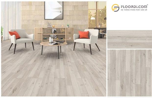 Phối hợp nền sàn gỗ với đồ nội thất cùng tone