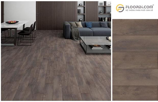 Sàn gỗ màu tối