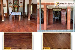 Công trình ốp sàn gỗ Lamton D2303 và Amazfloor AM8402 tại Bình Dương