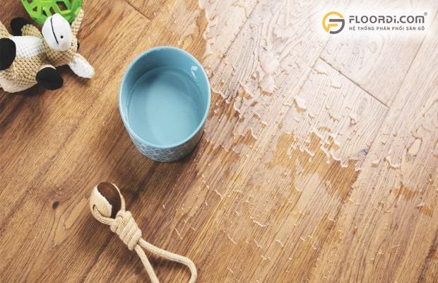 Sàn nhựa giả gỗ chuẩn chất lượng cho khả năng chống nước rất tốt