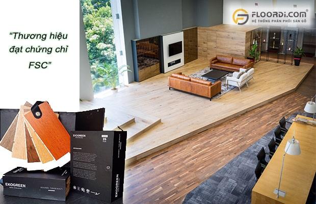 Chọn các thương hiệu sàn gỗ đạt chứng chỉ FSC