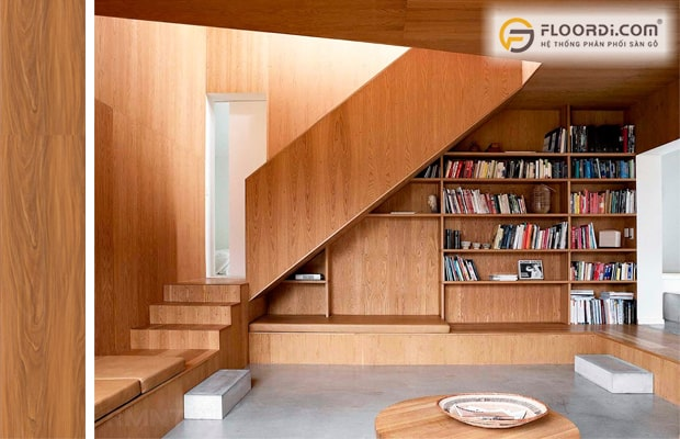 Vách ngăn cầu thang là kiểu trang trí của xu hướng hiện đại
