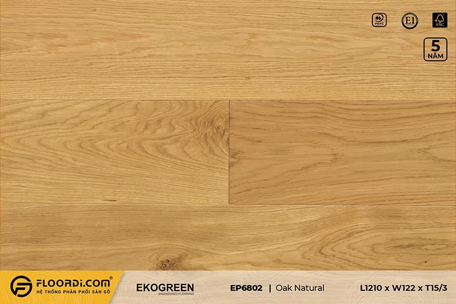 Sàn gỗ EP6802 Oak Natural – Premium – 15/3mm