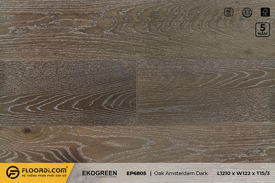 Sàn gỗ EP6805 Oak Amsterdam Dark – Premium – 15/3mm