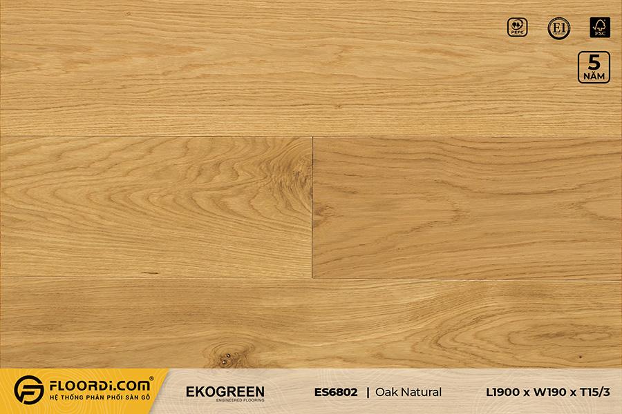 Sàn gỗ sồi ES6802 Oak Natural – Signature – 15/3mm