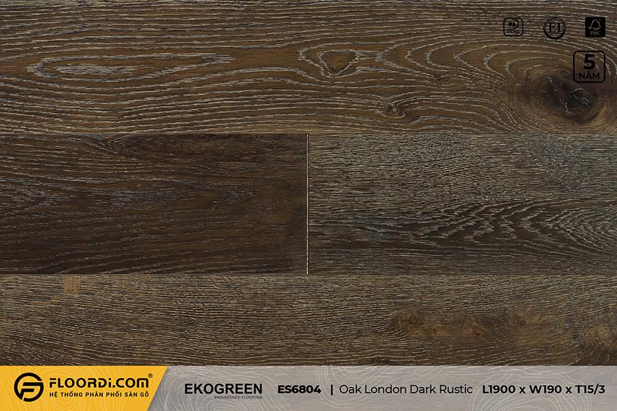 Sàn gỗ sồi ES6804 Oak London Dark Rustic – Signature – 15/3mm