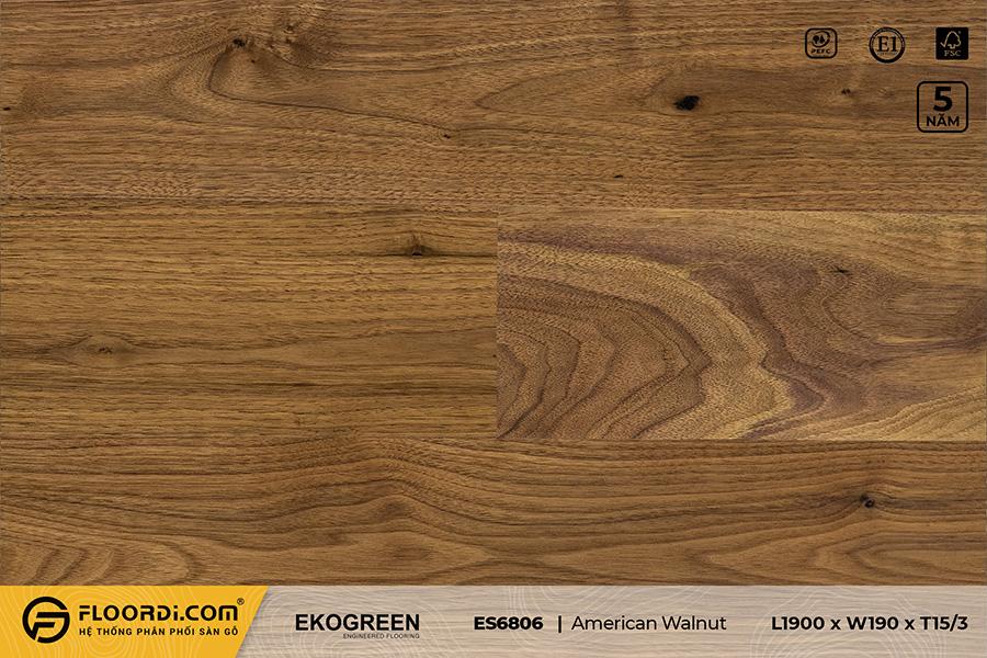 Sàn gỗ óc chó ES6806 American Walnut – Signature – 15/3mm