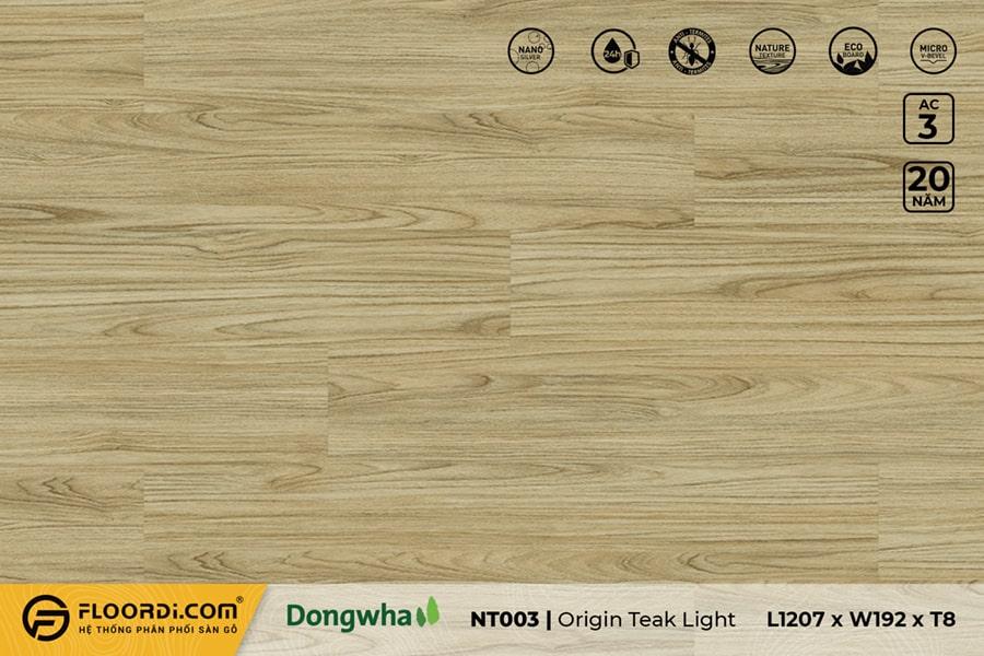 Sàn gỗ NT003 Origin Teak Light – 8mm – AC3