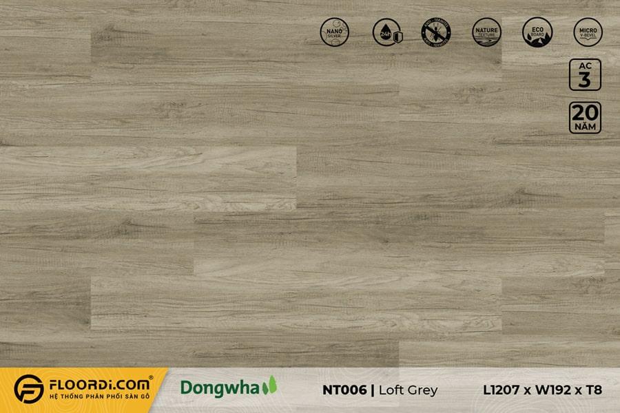 Sàn gỗ NT006 Loft Grey – 8mm – AC3