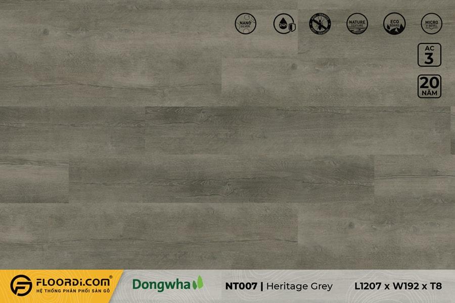Sàn gỗ NT007 Heritage Grey – 8mm – AC3