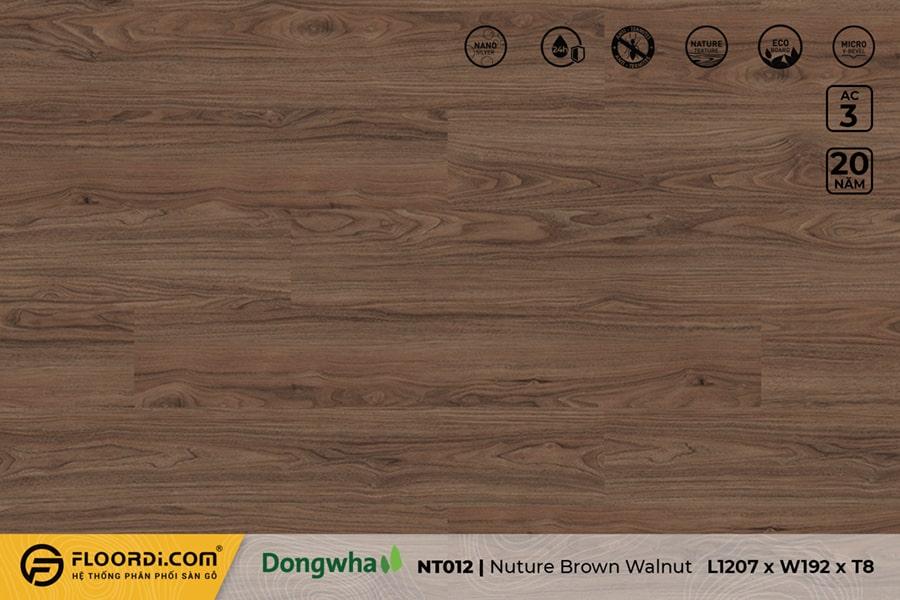 Sàn gỗ NT012 Nature Brown Walnut – 8mm – AC3