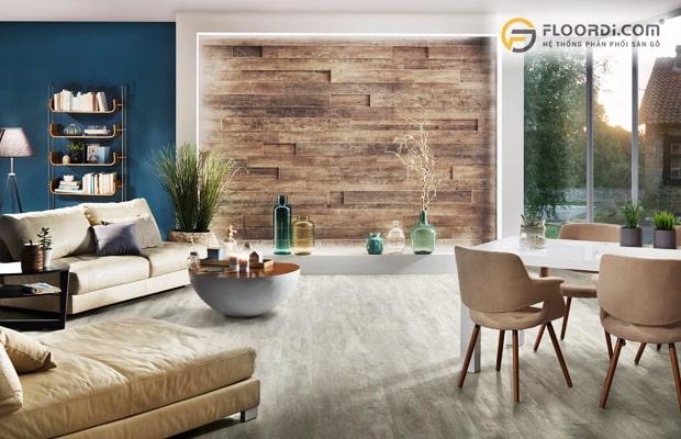 Ốp tường gỗ kiểu phá cách
