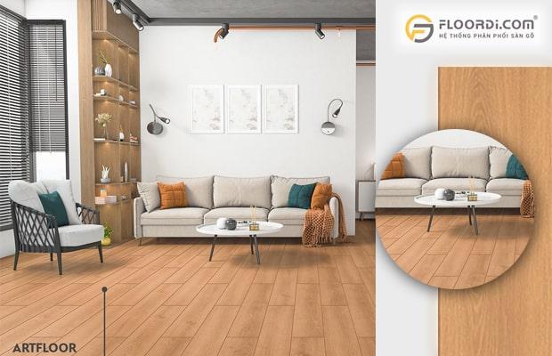Sàn gỗ công nghiệp là dòng vật liệu hiện đại mang lại giá trị thẩm mỹ rất cao