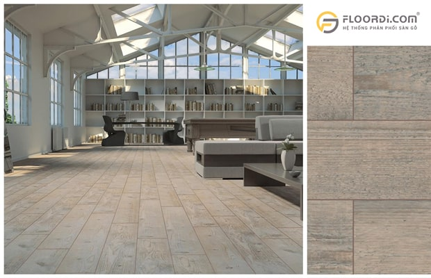 Các công trình có mật độ đi lại cao thì nên chọn sàn gỗ 12mm để lắp đặt