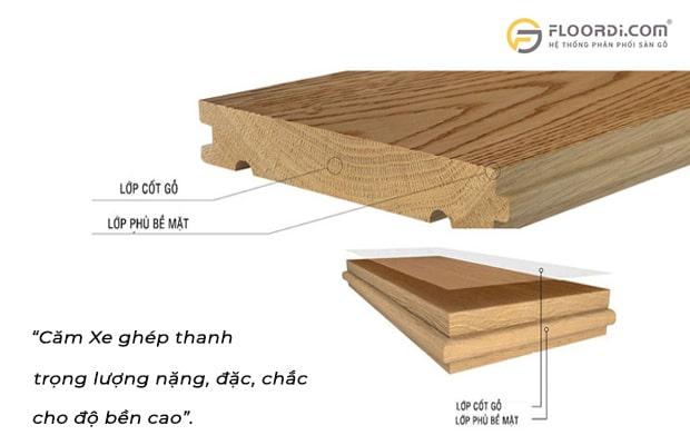 Ván sàn loại này có trọng lượng đặc và nặng nên cho độ bền cao