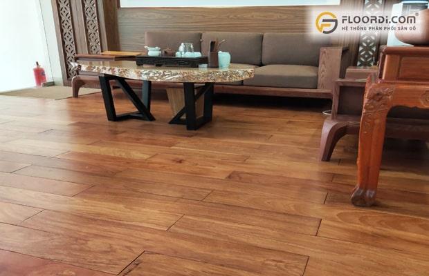 Lát sàn gỗ Gõ Đỏ mang lại vẻ đẹp sang trọng và đậm nét truyền thống