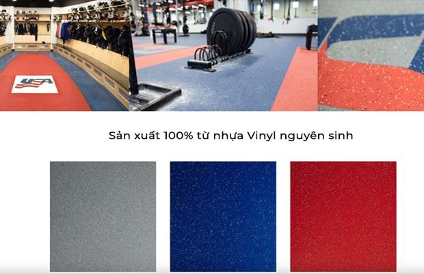 Sportflor 100% từ nhựa Vinyl nguyên sinh đảm bảo an toàn cho sức khỏe