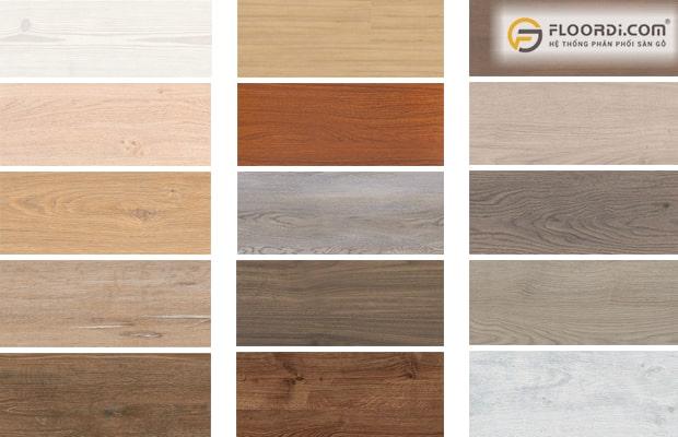 Sàn gỗ mô phỏng kiểu vân đa dạng và độc đáo từ các loại gỗ tự nhiên