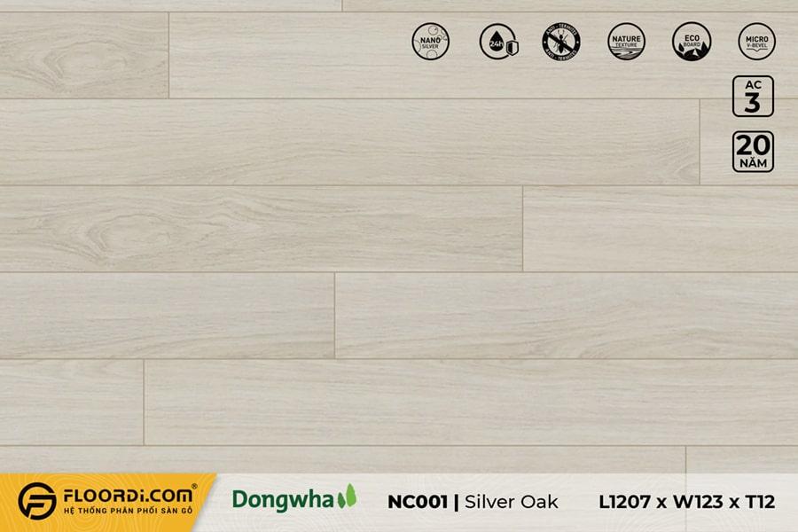 Sàn gỗ NC001 Silver Oak – 12mm – AC3