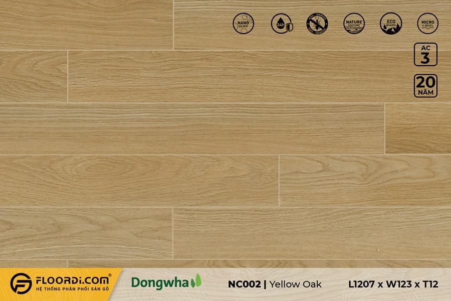 Sàn gỗ NC002 Yellow Oak – 12mm – AC3