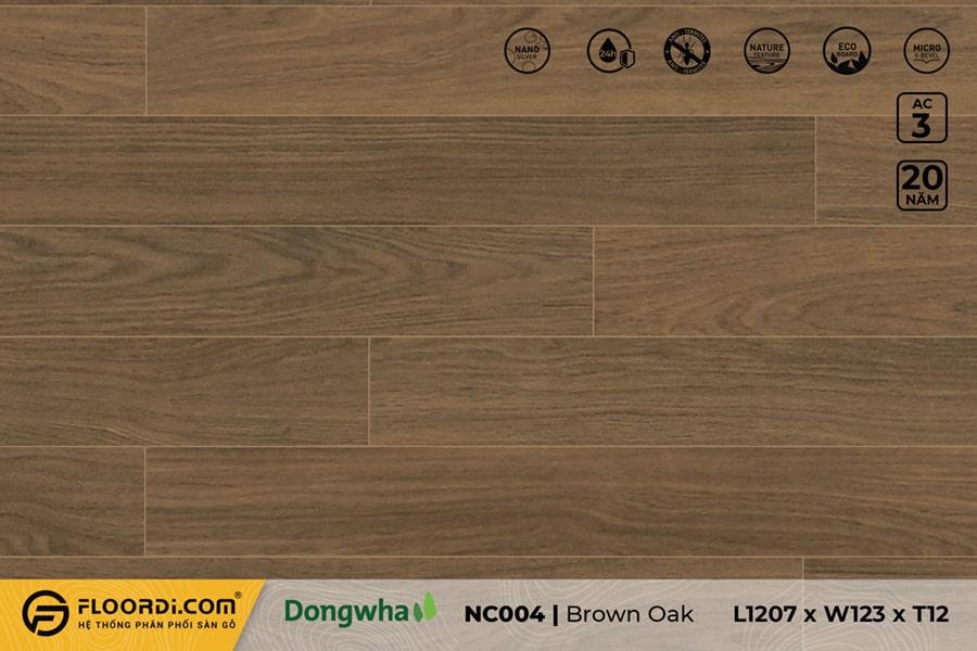Sàn gỗ NC004 Brown Oak – 12mm – AC3