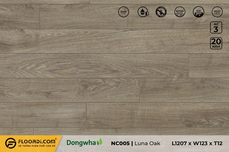 Sàn gỗ NC005 Luna Oak – 12mm – AC3