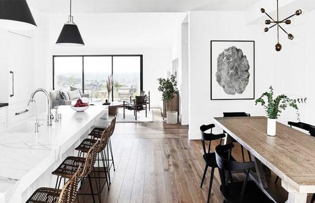 Gian bếp sẽ trở nên gọn gàng, sáng sủa khi áp dụng kiểu thiết kế Scandinavian
