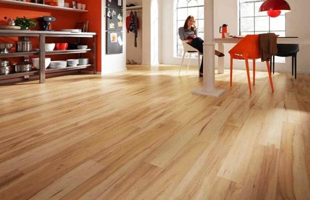 Ván sàn làm từ cây Xoan Đào khá tốt phù hợp với phân khúc khách hàng tầm trung