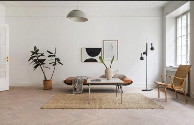 Các căn hộ của những gia đình trẻ rất thích décor theo lối kiến trúc tối giản này