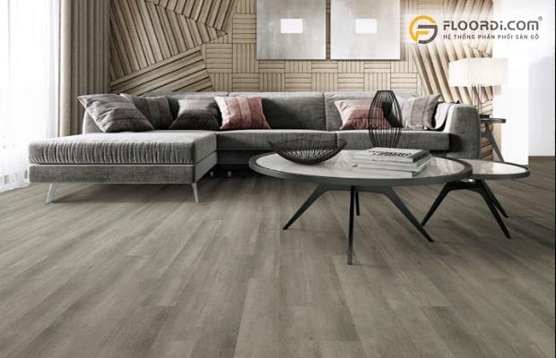 Nên chọn tông màu sàn tối cho không gian phòng khách của gia chủ mệnh Mộc