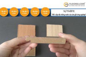 sàn gỗ có những cấp độ chống nước nào?