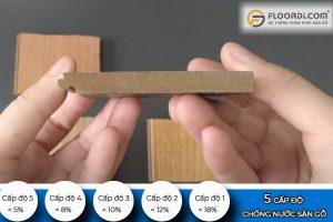 Cấp độ chống nước sàn gỗ