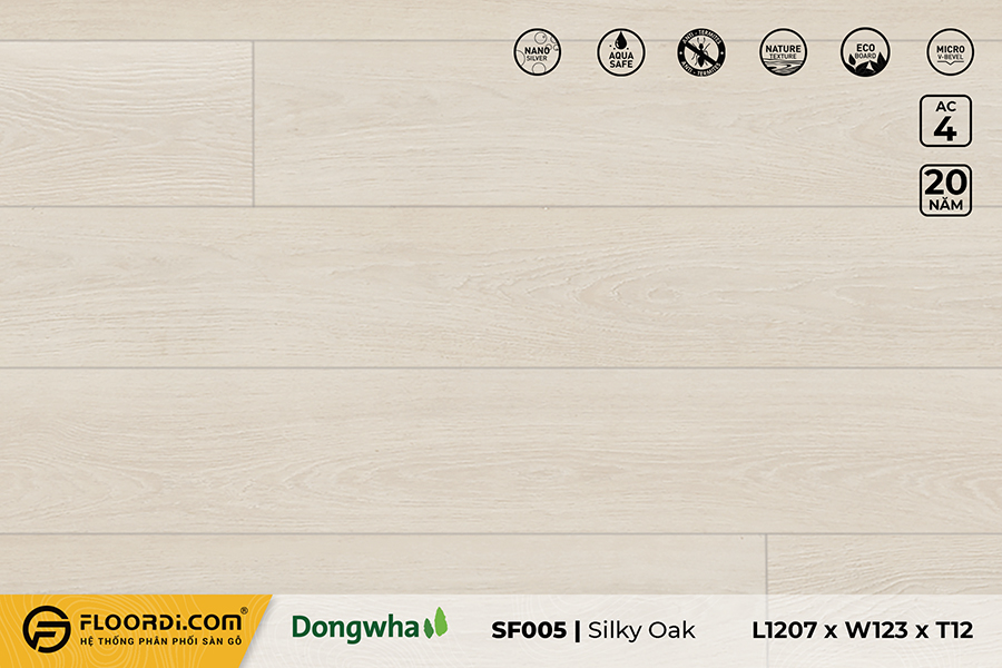 Sàn gỗ SF005 – Silky Oak- 12mm