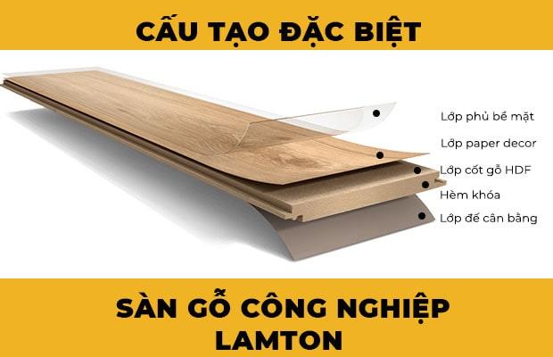 Cấu tạo sàn gỗ công nghiệp Lamton