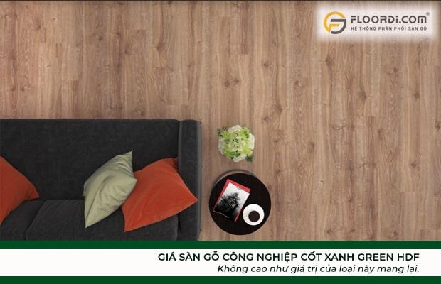 Giá sàn gỗ công nghiệp cốt xanh Green HDF không cao như giá trị của loại này mang lại