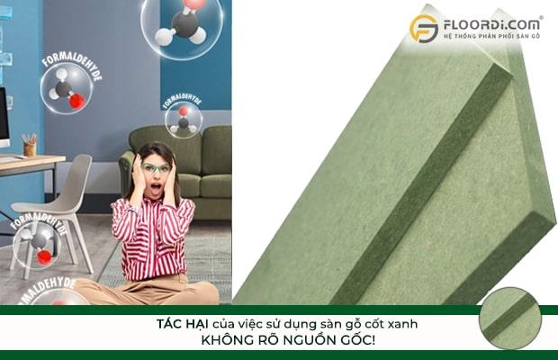 Sử dụng sàn gỗ cốt xanh không rõ nguồn gốc ảnh hưởng lớn đến sức khỏe người dùng
