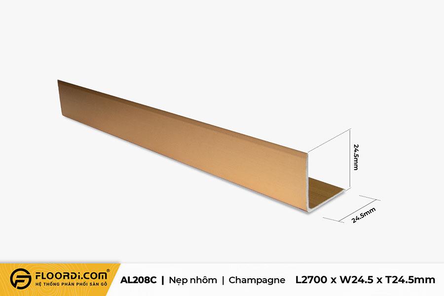 Nẹp V – AL208C – Champagne – 24.5mm