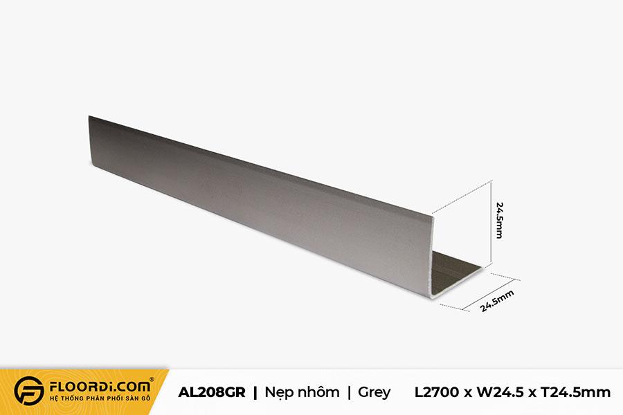 Nẹp chữ V – AL208GR – Grey – 24.5mm