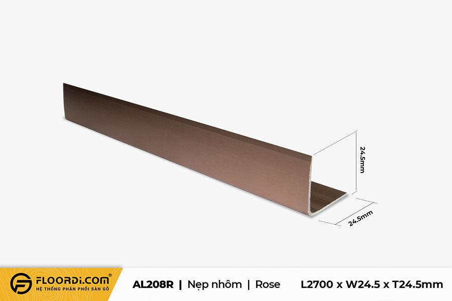 Nẹp chữ V – AL208R – Rose – 24.5mm