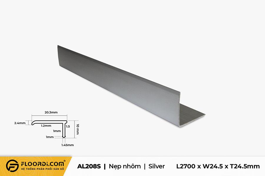 Nẹp chữ V – AL208S – Silver – 24.5mm
