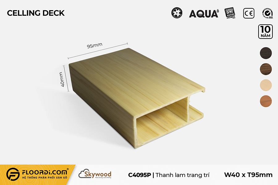 Lam trang trí trần C4095P – Golden Pine – 95mm