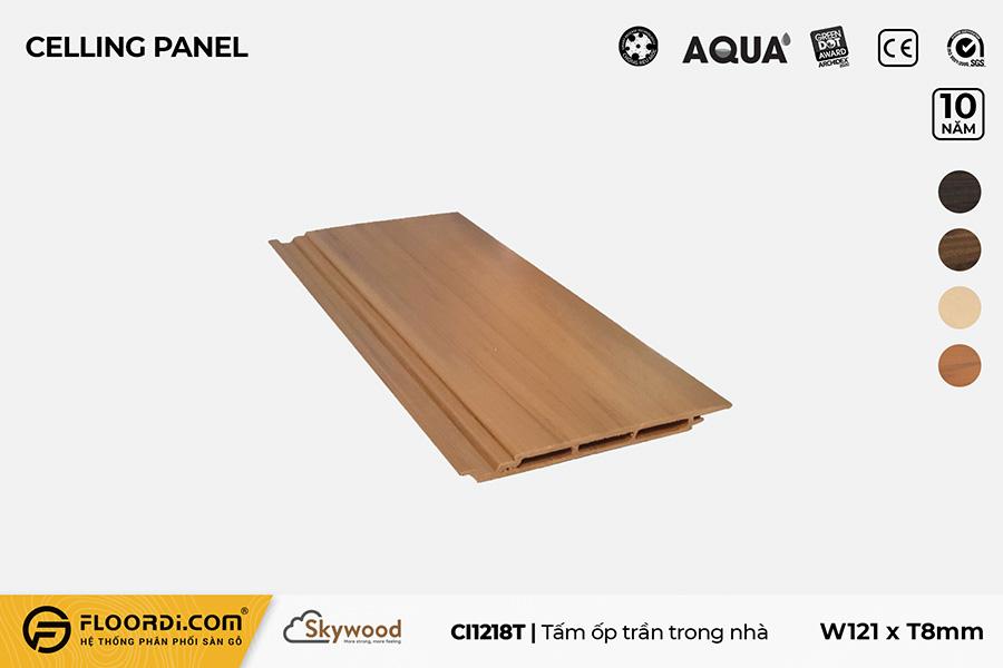 Tấm Ốp tường – Ốp trần CI1218T – Golden Teak – 8mm