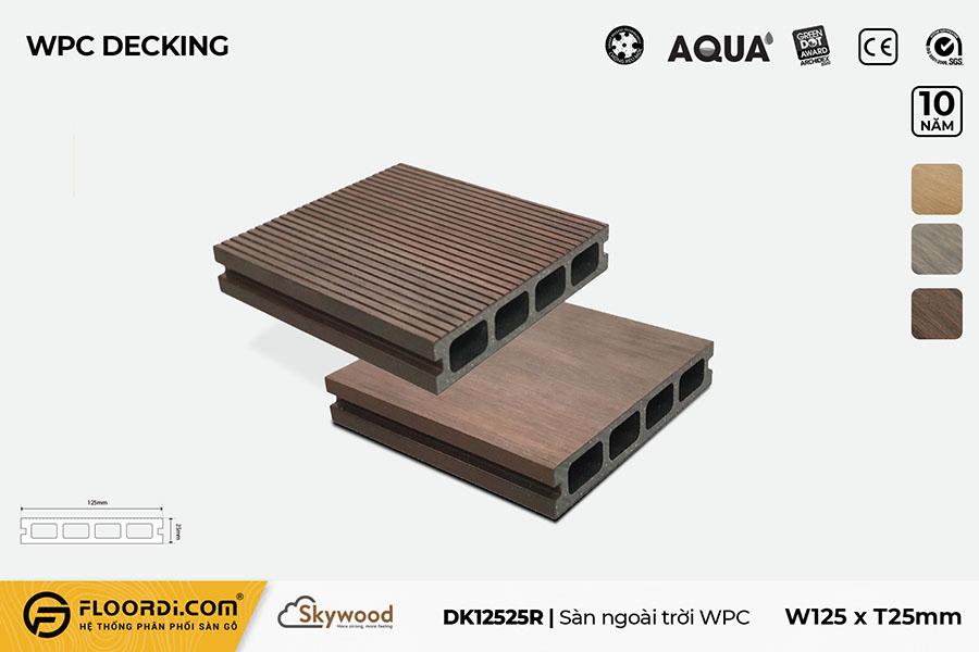 Sàn ngoài trời WPC DK12525R – Rosewood – 25mm