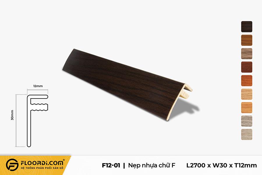 Nẹp chữ F – F12-01- Brown Black – 12mm